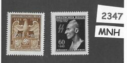 Mnh Stamp Set / Heydrich And German Imperial Eagle / Wwii Germany / Third Reich