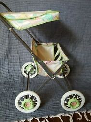 Canopy Doll Side By Side Double Stroller Vintage Cabbage Patch Kids Baby Buggy