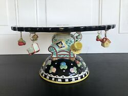 Mary Engelbreit Cake Stand Plate Love Home Friend Chair And Miniature Charms