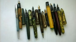 Vintage Fountain Pen Lot Arcadia Sheaffer's Stratford Wearever Parts Or Restore