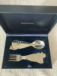 And Co. Sterling Silver Baby Whale And Duck Fork And Spoon Set - Bnib