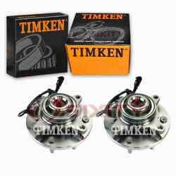 2 Pc Timken Front Wheel Bearing Hub Assembly For 2011-2014 Ford F-150 Ov