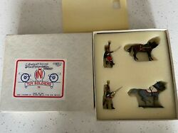 Ani Toy Soldiers Vintage British Cavalry Horses Military Figures Set Nos Mib New