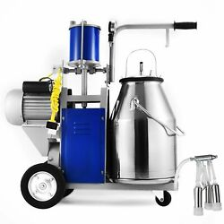 Electric Milking Machine For Farm Cows W/304 Stainless Steel Bucket Cow Milker