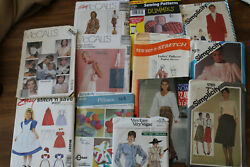 Lot Of 67 Uncut Sewing Patterns, Vogue, Simplicity, Style