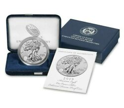 2019 S American Silver Eagle Enhanced Reverse Proof 19xe With All Ogp