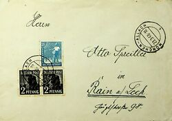 Germany 1948 3v Farm Workers On Cover From Munich Allach To Rain Lech