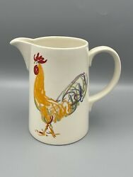 Vintage 1998 And Co. Roosters 62 Oz Pitcher