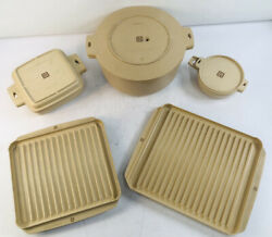Vintage Littonware Microwave Cookware Set With Their Lids Bacon Tray Dutch Oven