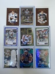 New England Patriots Card Lot - Brady, Gronk, Edelman, Mcginest, White, And More