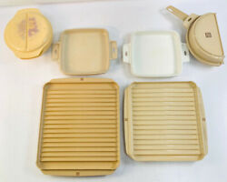 Vintage Littonware Microwave Cookware Set With Their Lids Bacon Tray Omelet Pan