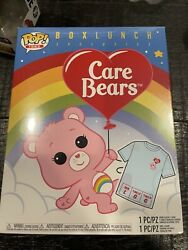 Funko Deluxe Care Bears Flocked Cheer Bear Box Lunch Tee Shirt Large W Protector