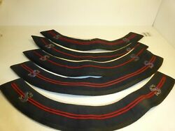 Five Vintage Salvation Army Uniform Collars Each W/ 2 Blood And Fire 's' Insignias