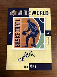 2011 Upper Deck Athletes Of The World Yao Ming Auto World Of Sports Autograph