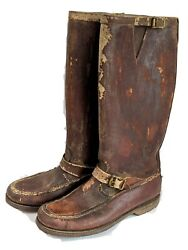 Vtg 30/40andrsquos Abercrombie Fitch Gokey Gro Cord King B Bullhide Leather Boots Sz 9