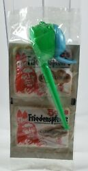 Super Rare Pez Two Toned Green With Blue Cap Indian Peace Pipe Mint In Cello