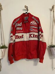 Vintage Rare First To 300 Mph Bud Racing Jacket Nascar Budweiser Men's Size Xl