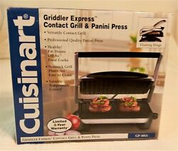 Cuisinart Griddler Express Contact Grill And Panini Press Gp-40sa,never Used