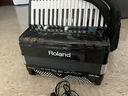 Roland Fr3x V-accordion - Black, Fully Functional, With Case, Manual, Power Cbl