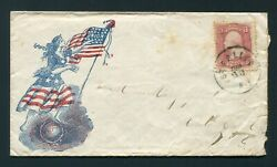 1860and039s Civil War Patriotic - Sterling New York To Cato New York - Bischel 4263