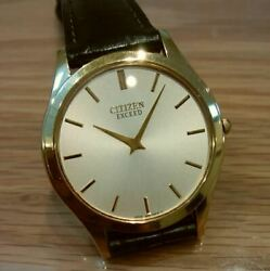 Vintage Citizen Exceed 8020-h17851 Rare Analog Menand039s Watch Quartz Used Authentic