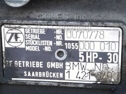 Used Oem Bmw 1055000010 Transmission Zf 5hp-30 Letter Code Ml