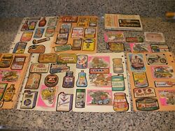 1970's Vintage Wacky Packages Series Stickers Lot Used With 1969 Mad Book