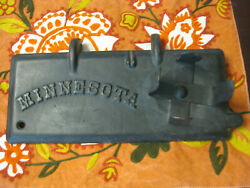 Vintage Minnesota Tractor Cast Iron Tool Box Lid With Oil Can Holder M117 Nice