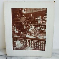 General Store Interior Occupational Mounted Antique Photograph Detailed 1900s