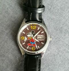 Vintage Seiko Mickey Mouse 6309-5820 Rare Menand039s Watch Automatic Used Authentic