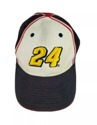 Chase Authentic 24 Nascar Hat Baseball Embroidered Blue White Adjustable Cap