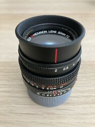 Konica M-hexanon 50mm F2 M-mount Rf Lens Excellent With B+w Uv Filter