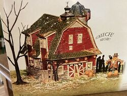 Dept 56 Snow Village Halloween Haunted Barn Sp@@ky Sounds Perfect Complete