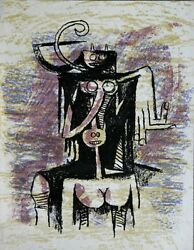 Wilfredo Lam - Lithographie Lithograph From Xxe Siècle No 43 - 1974