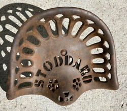 Vintage Stoddard Cast Iron Tractor Seat Implement Farm Tool