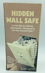 New Old Stock Hidden Wall Safe And Key Electrical Outlet Vault 1980s Hard_8s_magic