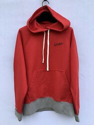 Drakeand039s Red And Grey Hooded Sweatshirt Hoodie Size Uk 38