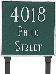 Montague Metal 11 X Square Two Line Address Sign Plaque Lawn Stakes