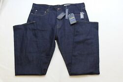 Cremieux Jeans Mens Straight Stretch Dark Wash Blue Color Size 36x34 Nwt