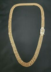 14k Yellow Gold Mesh Belt With Diamond Accents - 34 Length - 85.7 Grams