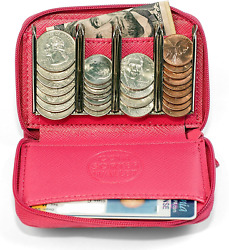 Women's Change Purse Organizer - Coin Pouch For Woman Pink