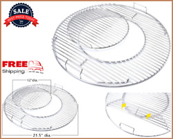 Cooking Grate Hinged Grid 21.5 For Weber Charcoal Kettle Performer 22.5 Grills