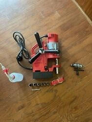 Milwaukee Mag Drill Combo 220v Us Plug 6pc Annular Cutters 5/8 Drill Chuck