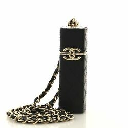 Cc Squared Lipstick Case On Chain Stitched Lambskin With Metal