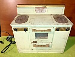 Vintage Kids Little Lady Electric Stove/oven Empire Brand Metal-ware Corp Wi