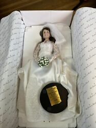 """""""the Princess Kate Bride Doll"""" The Danbury Mint Collectibles 2011 Numbered"""