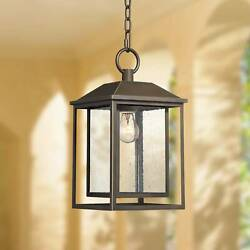 Mission Outdoor Ceiling Light Hanging Bronze 16 3/4 Lantern House Porch Patio