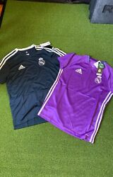 Nwt Adidas Real Madrid Soccer Jersey Set Youth Large