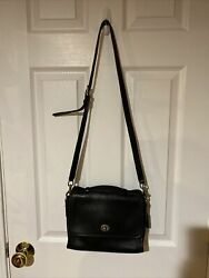VINTAGE COACH COURT BLACK CROSSBODY BAG 9870 MADE IN USA $79.99
