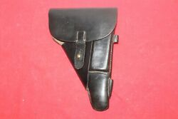 Original Wwii German Black Leather Walther P38 Holster .